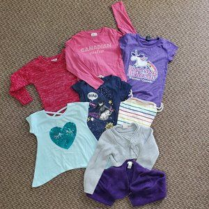 Lot 1 - Size 4-6 Tees & Sweaters